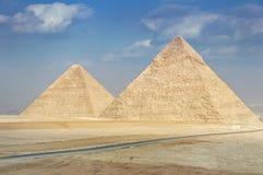 Pyraimds在吉萨棉, Egipt 库存照片