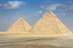 Pyraimds in Giza, Egipt Stock Photos
