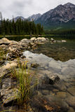 Pyramid湖贾斯珀国家公园 免版税库存照片