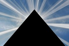 Pyramid 03. Egypt pyramid with raising sun cloud Stock Image