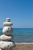 Pyramid. Zen stone pyramid with sea background Stock Images