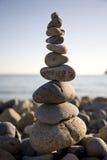 Pyramid. Of stones on a beach Royalty Free Stock Photo