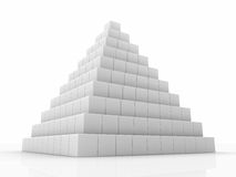 Pyramid. Made of small cubes, 3d abstract render Royalty Free Stock Photos