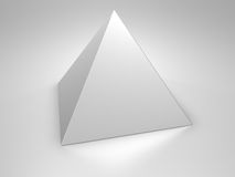 Pyramid. Metallic pyramid on metallic background, 3d render Stock Photography