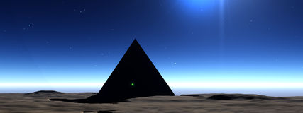 Pyramid 3. This is a pyramid landscape Stock Photo