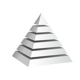 Pyramid. Abstract illustration of a pyramid cut in layers Stock Image