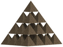 Pyramid 3D. The three-dimensional pyramid which consists of thirty small pyramids Royalty Free Stock Images