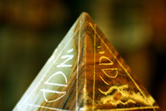Pyramid. A little pyramid with some hieroglyphic symbols Stock Photography