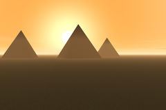 pyramid royaltyfri illustrationer