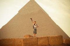 Pyramid. The most famous pyramid in egypt. the Khufu pyramid Stock Images