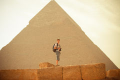 Pyramid. The most famous pyramid in egypt. the Khufu pyramid Royalty Free Stock Photography