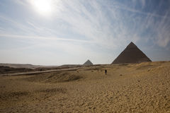 Pyramid. The most famous pyramid in egypt. the Khufu pyramid Stock Image