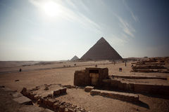 Pyramid. The most famous pyramid in egypt. the Khufu pyramid Stock Photo
