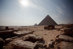 Pyramid. The most famous pyramid in egypt. the Khufu pyramid Royalty Free Stock Photo