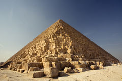 Pyramid. The most famous pyramid in egypt. the Khufu pyramid Royalty Free Stock Images