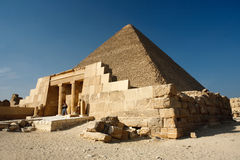 Pyramid. The most famous pyramid in egypt. the Khufu pyramid Stock Photos