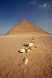Pyramid. A pyramid in cairo, egypt Royalty Free Stock Photography