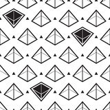 Pyramid abstract isometric seamless pattern Royalty Free Stock Image