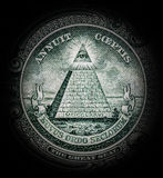 Pyramid with all-seeing eye.  royalty free stock photos