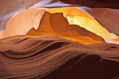 Pyramid in Antelope Canyon Royalty Free Stock Photos