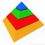 Pyramid apex hierarchy Royalty Free Stock Photo