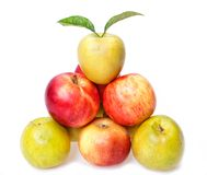 Pyramid of Apples Royalty Free Stock Photo