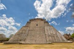 Pyramid architectural details at Uxmal Mexico Royalty Free Stock Image