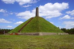 The Pyramid of Austerlitz,the Netherlands. The 36-metre-high pyramid was built in 1804 by Napoleon`s soldiers Stock Image