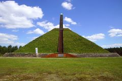 The Pyramid of Austerlitz,the Netherlands. The 36-metre-high pyramid was built in 1804 by Napoleon`s soldiers Royalty Free Stock Photography
