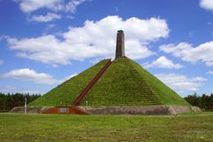 The Pyramid of Austerlitz,the Netherlands. The 36-metre-high pyramid was built in 1804 by Napoleon`s soldiers Stock Photography
