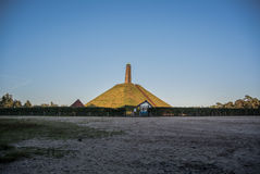 Pyramid of Austerlitz. Overview of the pyramid of Austerlitz and the surrounding terrain Royalty Free Stock Photos