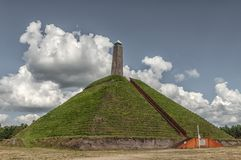 Pyramid of Austerlitz Utrechtse Heuvelrug stock photography