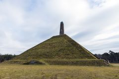 Pyramid of Austerlitz on Utrechtse Heuvelrug in the Netherlands. This is build as a tribute to Napoleon in 1804 in the forest of Zeist near Woudenberg in Stock Image