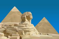 Pyramid av Egypten stock illustrationer