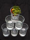 Pyramid av exponeringsglas Arkivfoton