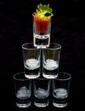 Pyramid av exponeringsglas Royaltyfri Bild