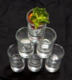 Pyramid av exponeringsglas Royaltyfri Foto