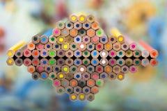 Pyramid av färg Arkivfoto