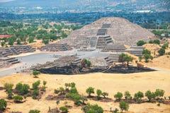 Pyramid av månen, Teotihuacan pyramider, Mexico Arkivbilder