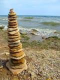 Pyramid av pebbles Royaltyfri Foto