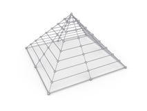 Pyramid av sfärer Royaltyfri Bild
