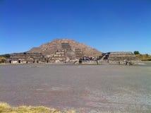 Pyramid av solen Teotihuacan, Mexico (2) Arkivbilder
