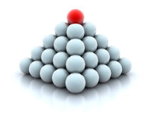 Pyramid from balls Royalty Free Stock Photos