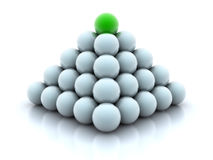 Pyramid from balls Royalty Free Stock Photography