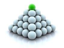 Pyramid from balls Royalty Free Stock Photography