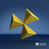 Pyramid of balls. 3d vector illustration. Can be used for marketing, website, presentation Royalty Free Stock Photography