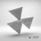 Pyramid of balls. 3d vector illustration. Can be used for marketing, website, presentation vector illustration