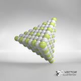 Pyramid of balls. 3d vector illustration. Can be used for marketing, website, presentation Royalty Free Stock Photo