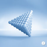 Pyramid of balls. 3d vector illustration. Can be used for marketing, website, presentation Stock Photography