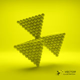 Pyramid of balls. 3d vector illustration. Can be used for marketing, website, presentation Royalty Free Stock Image